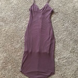 Express Ribbed Midi Dress